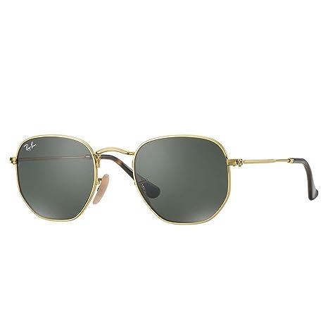 Ray-Ba n Hexagonal Flat Lenses - Dorado - Lentes Verdes - rb3548 N ... 419378c927