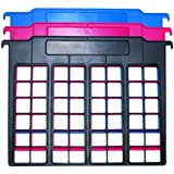 Advantus File and Folder Dividers, 3-Count, Red/Blue/Black (50912)