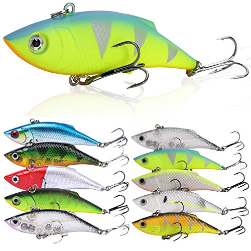 Sougayilang Fishing Lures Swimbait Vibe Crankbaits for Trout Bass Perch Musky Walleye Fishing ()