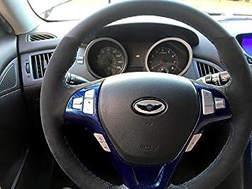 RedlineGoods Hyundai Genesis Coupe 2013-15 cubierta del volante: Amazon.es: Coche y moto