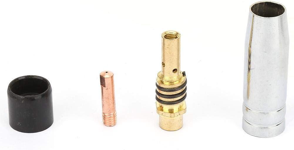24 Pcs 0.8 Contact Contact MIG Soudage Contact Soudeur Kit De Consommables De Soudage Compatible Pour Binzel 15AK Pistolet De Torche De Soudage