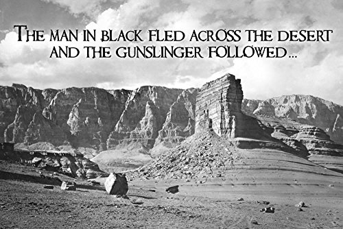 - ArtEdge Dark Tower by Stephen King Gunslinger Quote Poster Print 12 x 18 in