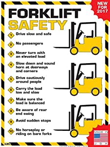 Amazon Com Forklift Safety Rules Poster 18 Quot X 24