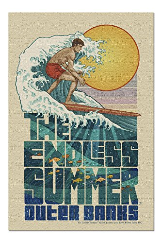 Outer Banks, North Carolina - The Endless Summer - Underwater Scene (20x30 Premium 1000 Piece Jigsaw Puzzle, Made in USA!) - Endless Summer Chipboard