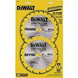 DEWALT 6-1/2 Cordless Combo Blade Pack (18T-24T) (DW9158X)