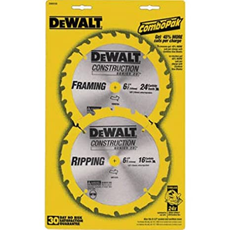Dewalt dw9158 6 12 inch saw blade pack with 18 and 24 tooth saw dewalt dw9158 6 12 inch saw blade pack with 18 and greentooth Gallery