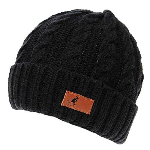 Nieve Knit Kangol Accesorios Calentar Dk Blue Cable Beanie Hombre Sombrero Invierno wqHXFq