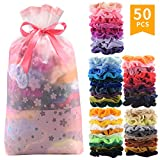 50 Pcs Premium Korean Velvet Hair Scrunchies Hair Bands Scrunchy Hair Ties Ropes Scrunchie for Women...
