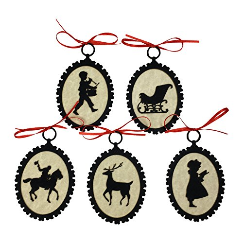 Costume Settler English (Colonial Laser Cut Silhouette Christmas Tree Ornaments)