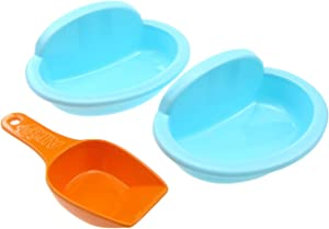 Alfie Pet - Ruby 2-Piece Set Ceramic Food and Water Bowl for Mouse, Chinchilla, Rat, Gerbil and Dwarf Hamster