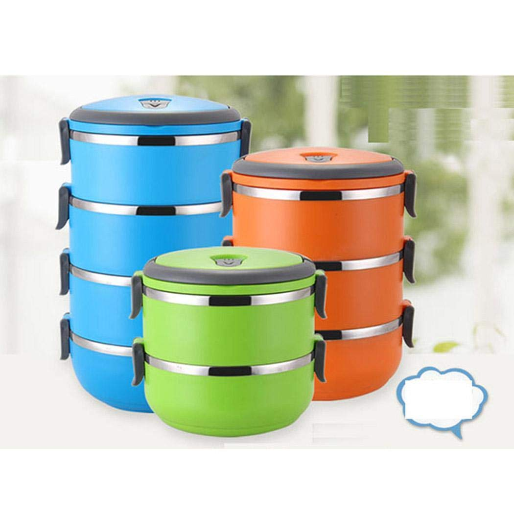 2c742fb0c5a6 Amazon.com: melysUS Stainless Steel Lunch Containers Portable ...