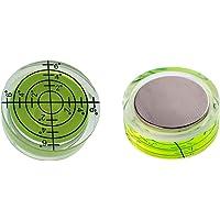 Aoderda 2 piezas magnético nivel de burbuja circular