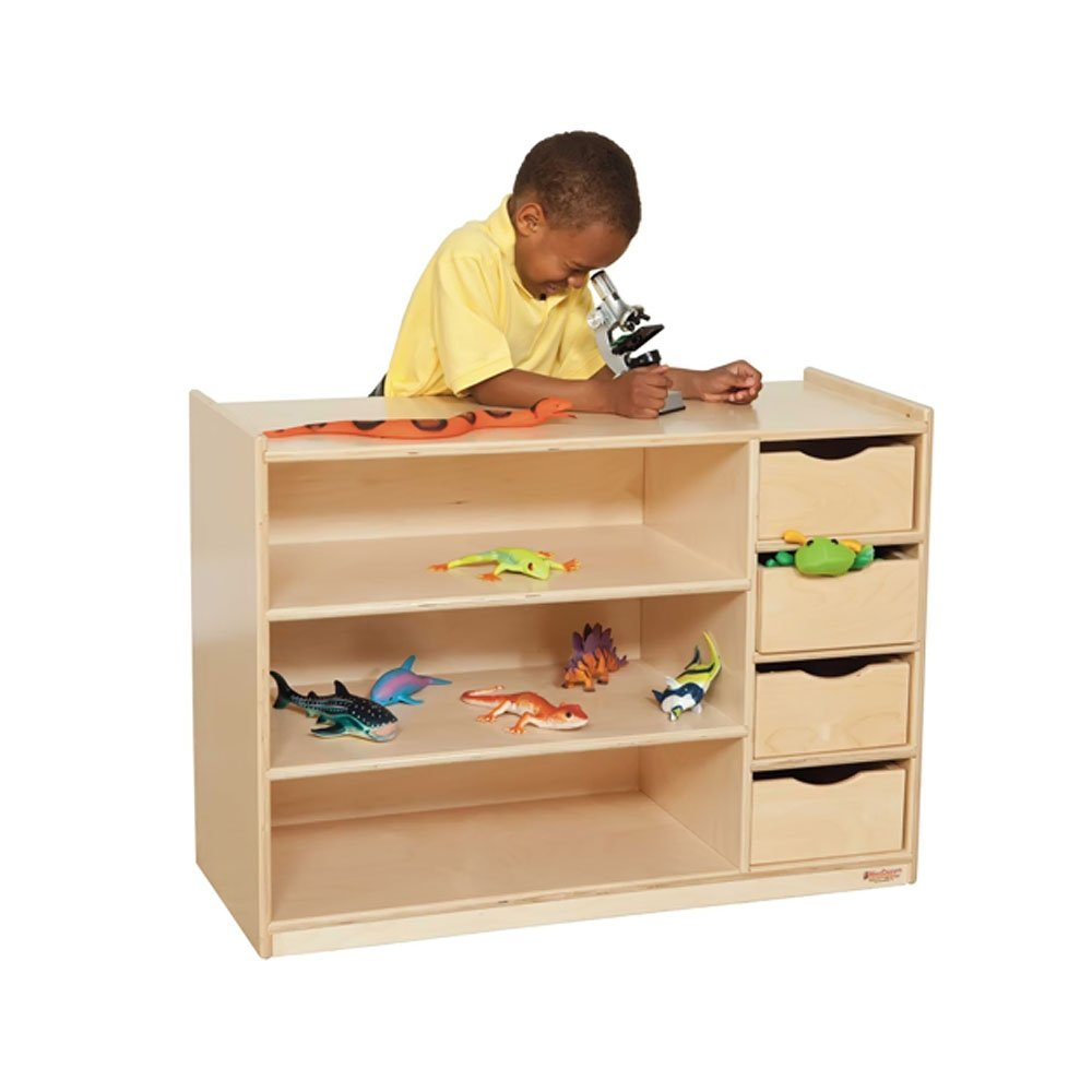 Wood Designs Kids Play Toy Book Plywood Organizer Wd14475 Storage Center With Drawers by Wood Designs (Image #1)