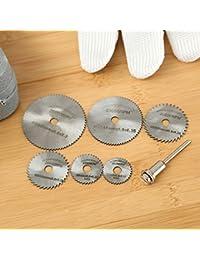 Buy 6PCs Circular Saw Blades Cutting Discs w 3.17mm Mandrel For Plastics Wood Cutoff opportunity