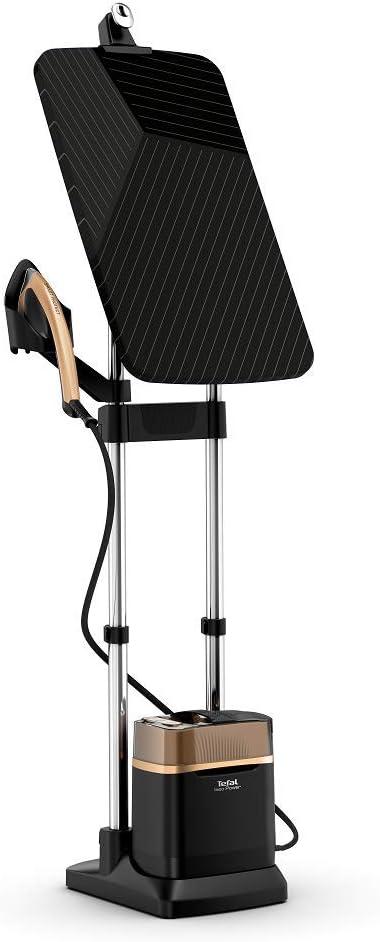 Tefal QT2020 Ixeo Power All-in-One kledingstomer (2170 Watt, constante stoomafgifte: 90 g/min, stoomstoot: 200 g/min, met geïntegreerde 3-posities Smart Board, snelle opwarmtijd) zwart/koper