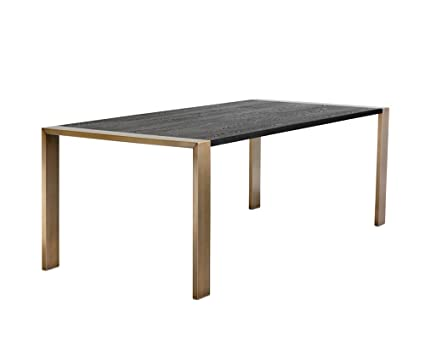 Pleasant Amazon Com Sunpan Modern Dalton Antique Brass Dining Table Interior Design Ideas Tzicisoteloinfo