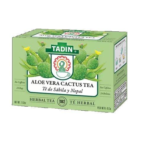 Tadin Aloe Vera Cactus Tea, 24 Bags (Pack of -