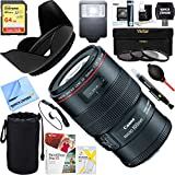 Canon EF 100mm f/2.8L Macro IS USM Lens + 64GB Ultimate Filter & Flash Photography Bundle