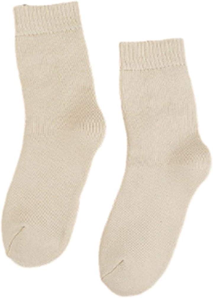 nobrand 6PCS Calzini moda selvaggia solido di colore Terry Socks in calze di colore solido cotone caldo Socks Elastica