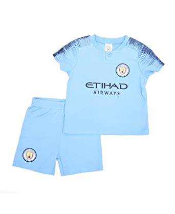 74e1bf37ad1 Official Licensed Manchester City Baby Kit T-Shirt   Shorts - 18 19 Season