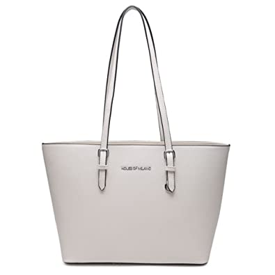 Womens Faux Leather Designer Style Ladies Office Tote Bag Girls Handbag New   Amazon.co.uk  Shoes   Bags 0ed1fe08625f2