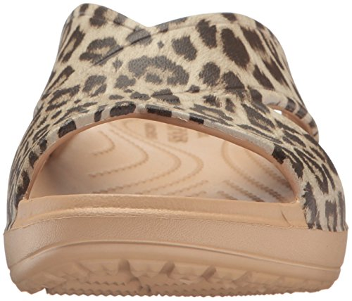 Crocs Kvinners Sloane Grafisk X-stropp Lysbilde Sandal Leopard