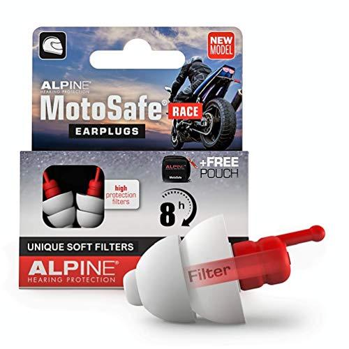 Alpine MotoSafe Race Motor oordoppen voor Racing – Voorkomt gehoorbeschadiging van windruis bij motorrijden – Verkeer…