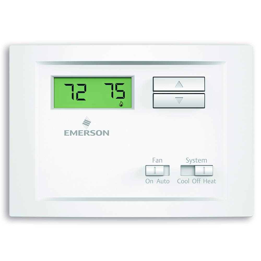 Emerson Np110 Non Programmable Single Stage Thermostat Hvac Wiring Diagram Manufacturers Home Improvement