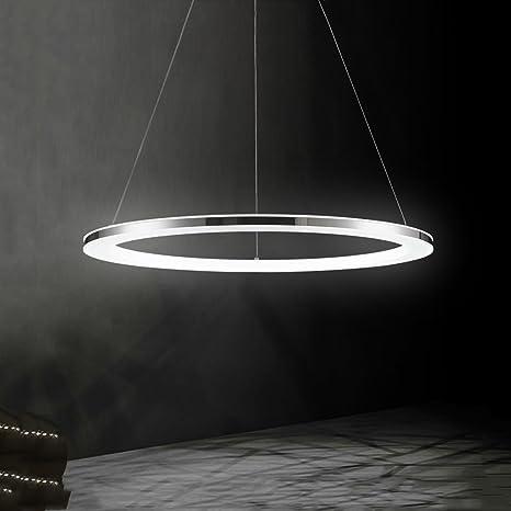 Lámpara Colgante de Techo,LED Araña Iluminación Luz Interior Pendiente 18W 30CM Brillo y Altura Ajustable Forma de Anillo Material de Acrílico y Metal ...