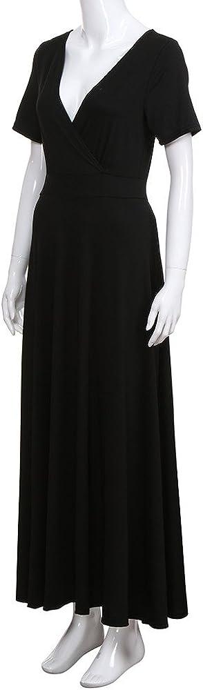 Chaofanjiancai/_Dress Chaofanjiancai Dress Women Loose Plain Maxi Dress