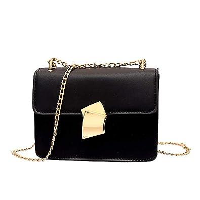 9e288deb2e33 Amazon.com: Messenger Bag JIUDAS Women Fan Lock Shoulder Bag Simple ...