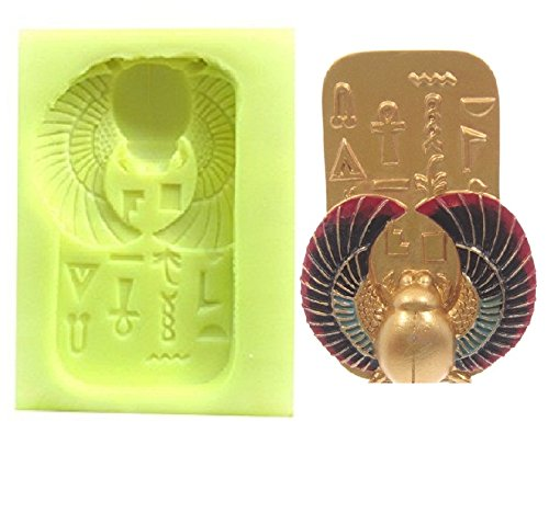Inception Pro Infinite Stampo in silicone per uso artigianale di uno scarabeo sacro su una tavola di geroglifici egiziani Exsyn Di Tozzi Stefano