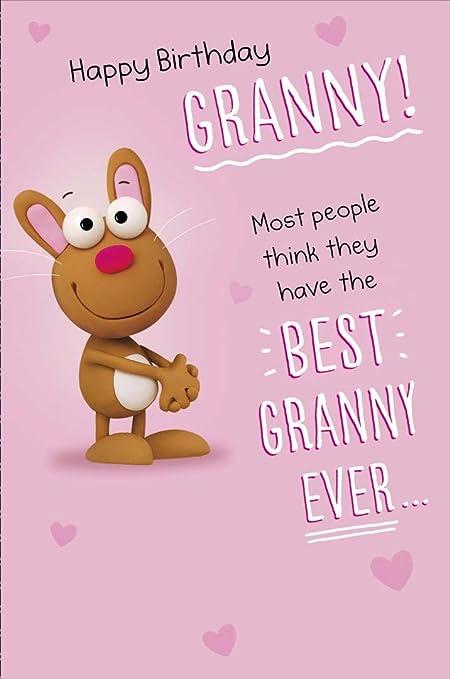 Feliz cumpleaños abuela! - Tarjeta de felicitación: Amazon ...