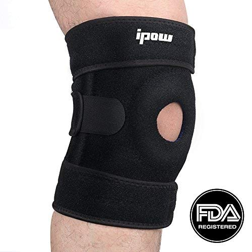 IPOW Quadruple Spring Open Patella Support Stabilizer, FDA Registered Wraparounds Knee Brace Ideal For Acute Or Chronic Knee Pain From Arthritis, Sprains