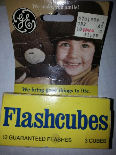 General Electric Flash Cubes for Flash Cube Cameras