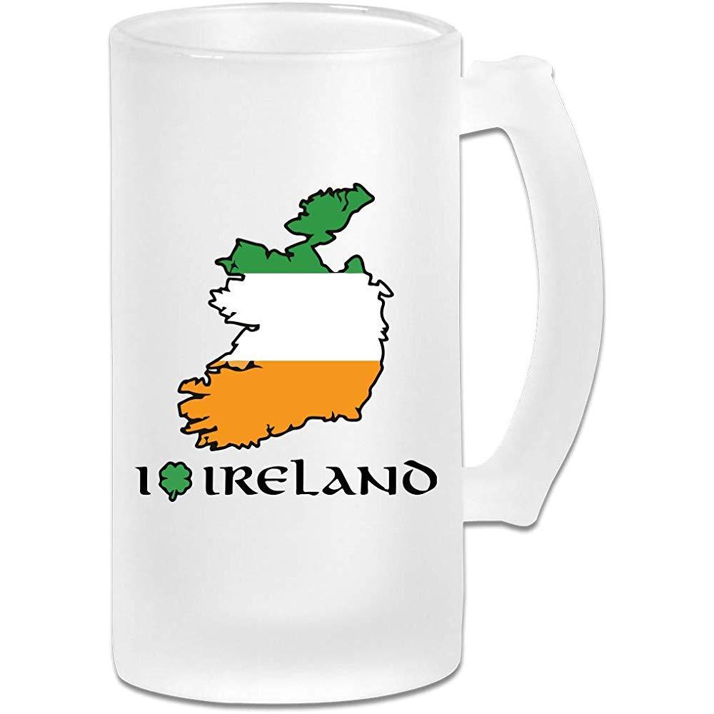 Amo Irlanda DIY impresión vidrio cerveza agua taza térmica taza ...