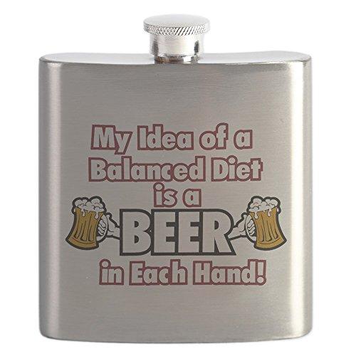 Hip Flask My Idea Balanced Diet Beer Each Hand