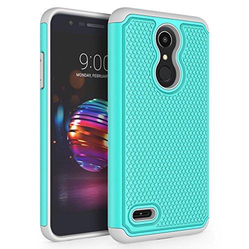 LG K10 2018 Case, LG K30 Case, LG Premier Pro LTE Case, LG K10 Alpha Case, SYONER [Shockproof] Defender Phone Case Cover [Turquoise]