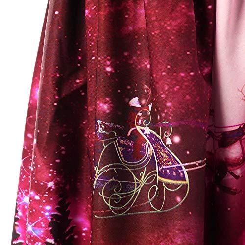 Christmas Femme Fillette Mode Pour Col Robe Manches Cintrée Fete Sans Angelof Longue Rouge De Chic Accessoires Carré Vetement XYBgxqqE