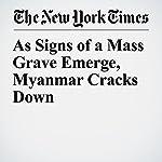 As Signs of a Mass Grave Emerge, Myanmar Cracks Down | Hannah Beech,Saw Nang