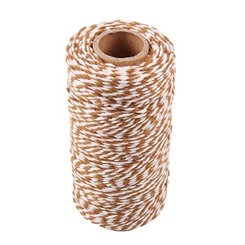 BROSCO Bakers Twine, 328 Feet Cotton String for DIY Crafts, Christmas Gift Wrapping | Color - Coffee