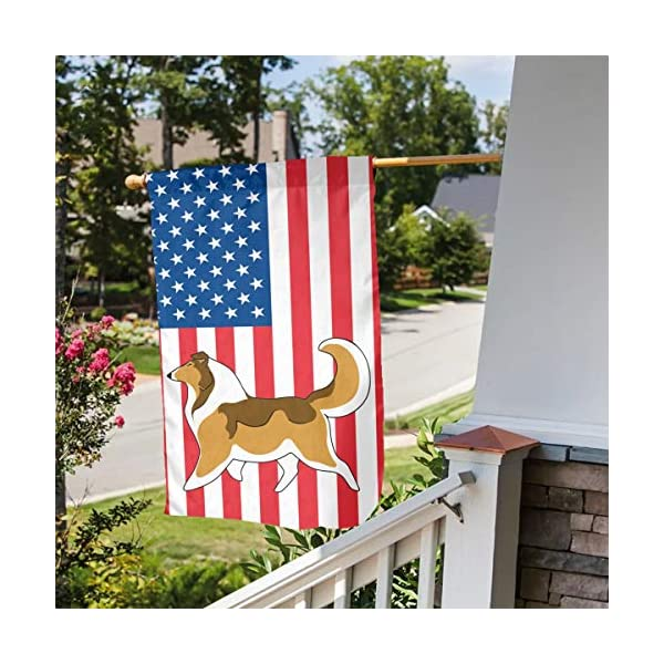 Rough Collie Garden Flag Party Decor Flags For Celebration,Festival,Home,Outdoor,Garden Decorations 12 X 18 Inch 3