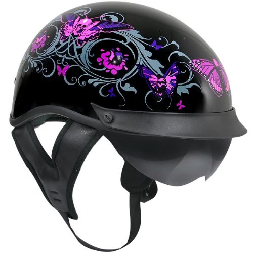 Flower Motorcycle Helmet - 4