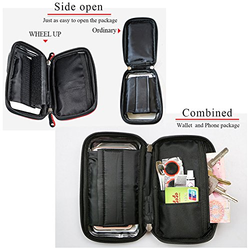 Bike Phone Bag Screen Touch Bicycle Front Frame Waterproof Cycling Top Tube Bag below 6 Inch