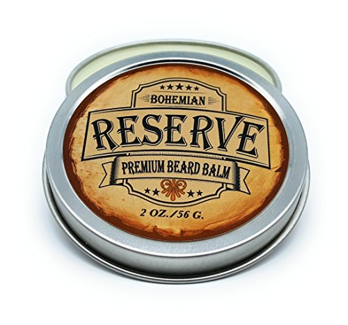 (Sale - Bohemian Brothers Grooming - Deep Conditioning Beard Styling Balm with Argan and Coconut Oil. Vintage Barbershop Bay Rum and Sandalwood Scent.)