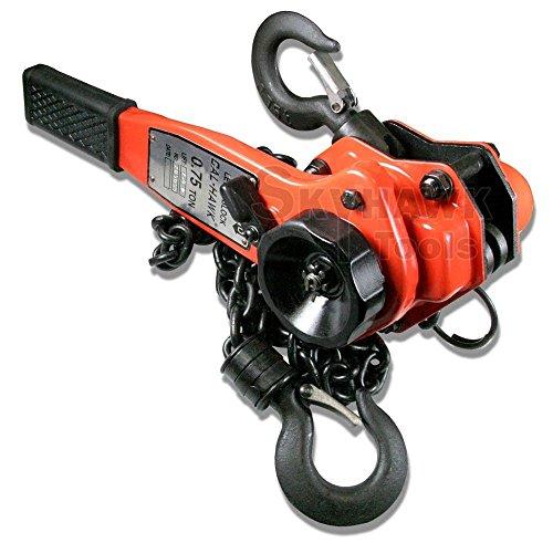 3/4 Ton Lever Block Hoist Safety Latch Hooks Come Along Ratche Chain Hoist