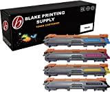 Blake Printing Supply 4 Pack Black Cyan Magenta Yellow Compatible Toner Cartridge Replacement For Brother TN221 TN225 HL-3140CW HL-3170CDW HL-3180CDW MFC-9130CW MFC-9330CDW MFC-9340CDW High Yield
