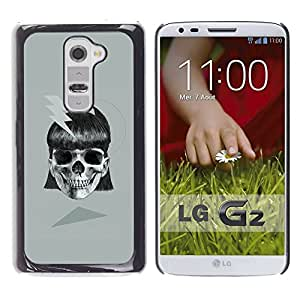 Be Good Phone Accessory // Dura Cáscara cubierta Protectora Caso Carcasa Funda de Protección para LG G2 D800 D802 D802TA D803 VS980 LS980 // Girl Black Grey Danger Black Skull