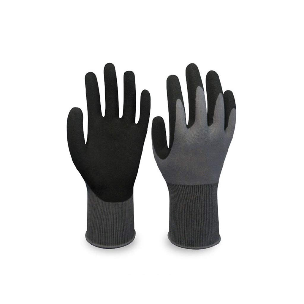 YYTLST Gardening Non-Slip Gloves, Palm Dipped Rubber Wear-Resistant Flexible, Suitable for Mechanical Garden Work, 5 Pairs (Size : L) by YYTLST