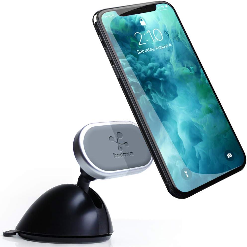 Koomus Urban-Dash-N Smartphone Magnetic Car Mount for Dashboard Windshield, Black